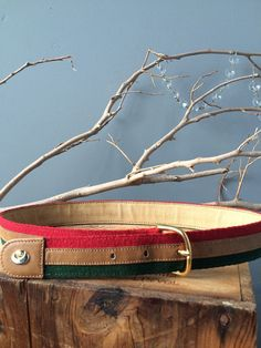 VINTAGE GUCCI...small belt by Gucci canvas leather by madeforfun