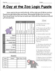 Zoo Logic Puzzle