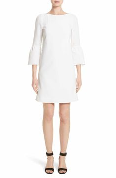 Main Image - Lafayette 148 New York Marisa Flounce Cuff Shift Dress (Nordstrom Exclusive)