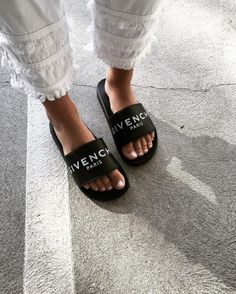 See Want Shop blogger Lisa Hamilton | Givenchy slides |