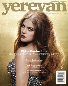 Khloe Kardashian looks amazing!! Cover Story In Armenian Magazine Yerevan