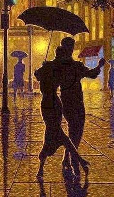 figure painter canadian Denis Nolet ..Night tango