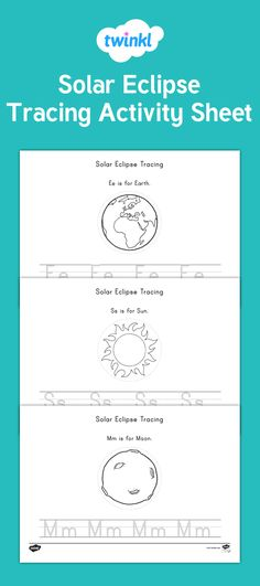 solar eclipse tracing activity have your children practice their handwriting with this fantastic space and