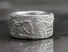 lace sterling silver ring by vdeux