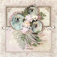 A STROLL DOWN MEMORY LANE: Home Made Vines...this has to be my favorite of Cathy's pages, of course, because I LOVE dogs and I adore anything done in PINK...the best of two worlds for me!!!  I do so love ALL her work though!!!