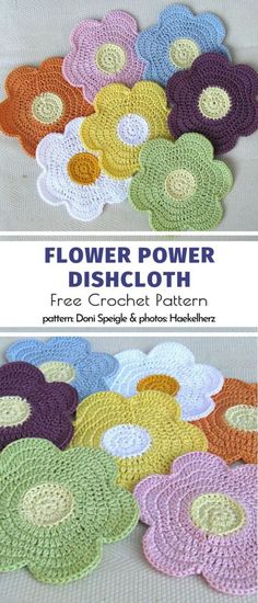 Blooming Crochet Dishcloths - Flower Power Dishcloth Free Crochet Pattern Imágenes efectivas que le proporcionamos sobre healthy - Crochet Kitchen, Crochet Home, Crochet Gifts, Crochet Baby, Double Crochet, Flower Power, Knitting Patterns, Crochet Patterns, Pdf Patterns
