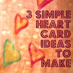 Heartcard | 3 Simple Heart Card Ideas | Valentines Day Crafts Painting activities