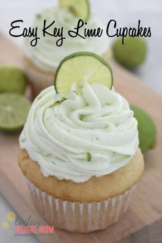 This easy key lime cupcake recipe is sure to light your taste buds on fire (in a good way, of course) and give you your key lime fix in a jiffy! :: todaysfrugalmom.com