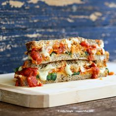 Lasagna Grilled Cheese. Nut-free Soy-free Vegan Recipe - Vegan Richa