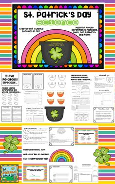 This St. Patrick's Day, why not teach a rainbow of scientific concepts...from rainbow science and writing connections, to potato experiments and research...growing leprechaun hair to STEM leprechaun traps...your learners will be lucky to engage in St. Patrick's Day Science!