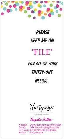 Welcome to Thirty-One Gifts