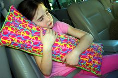 Seat Belt Pillow  Travel Pillow by SewCCC on Etsy