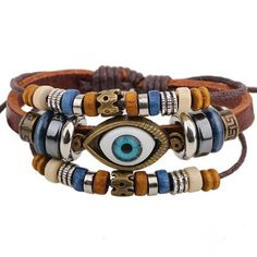 Susenstone Leather Bracelets Unisex Bracelets Cowhide Bracelets -- Click image to review more details. (This is an affiliate link) #JewelryForWomen