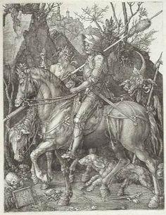 Dürer // La mort, el cavall i el dimoni. Ephesians 6 http://www.biblegateway.com/passage/?search=Ephesians%206:10-18=KJV