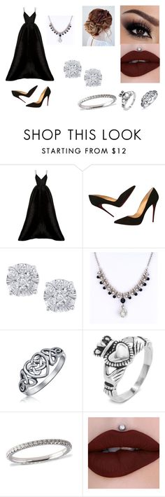 """""""Going to an extremely fancy party"""" by sarapotter98 on Polyvore featuring Alex Perry, Christian Louboutin, Effy Jewelry, Bling Jewelry, West Coast Jewelry, Winter, outfit, ootd, polyvorefashion and styleinsider"""