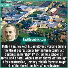 Fact Cards - Hundreds of Little known, interesting, unbelievable facts with sources in easy to share image format that can be seen at a fast glance. Milton Hershey, Keystone State, Pa School, Unbelievable Facts, Great Depression, School Projects, Continents, Rid, Fun Facts