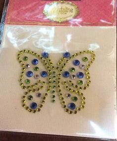 Colorful Butterfly crystal Iron On Embellishment Krystaline by Mercy