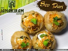 Sev Puri is a spicy chaat bowl filled with delicious condiments. It has refreshing flavors and makes for a unique food experience only at Srijanakiram Hotels