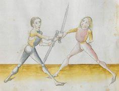 Lecküchner, Hans: Kunst des Messerfechtens Nordbayern, 1482 Cgm 582 Folio 348