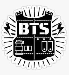 Bts stickers featuring millions of original designs created by independent artists. Foto Bts, Blusas Do Bts, Fanfiction, Arte Do Harry Potter, Logo Clipart, Bts Header, Bts Big Hit, Bts Birthdays, Entertainment Logo