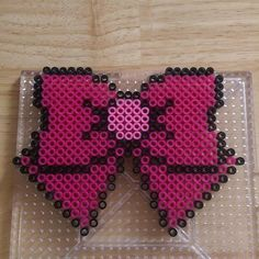 Sailor Chibi Moon bow perler beads by knitsandperls