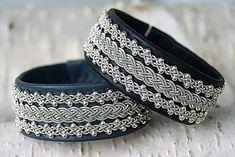 Sami bracelet from ScandicraftRU #handmade #bracelets #leather #pewter #silver #jewelry #etsy #Sami #Lapland #laponia #wirewrap #viking #celtic #scandinavian #cuff #handcrafted