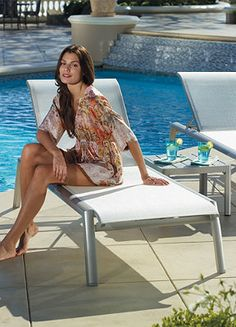 A modern form of sophistication and comfort for your pool side area.