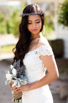 Lavender Halo Real Dried Flower Crown Bridal Hair Wreath Engagement / Wedding by WoodlandSecrets on Etsy https://www.etsy.com/listing/164499173/lavender-halo-real-dried-flower-crown