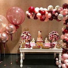 Resultado de imagen para club el rancho innoballoons Balloon Ideas, The Balloon, Balloon Decorations, 21st Birthday, Birthday Celebration, Birthday Ideas, Balloon Garland, Balloons, Baby Shower Parties