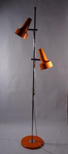 originale stehlampen und bodenleuchten aus den original vintage standing lamps and floor lights from the sixties, design Standing Lamp, Lamp Design, Light Orange, Lamp, Light, Floor Lights, Swiss Design, Lights, Vintage