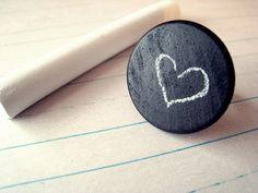 Chalk Board Ring with Chalk & Eraser