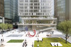 Galeria de BIG projeta arranha-céu para Frankfurt - 4