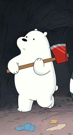 Ice bear♡ in We Bare Bears° Polar Bear On Ice, Polar Bear Cartoon, Ice Bear We Bare Bears, We Bear, Polar Bears, Bear Wallpaper, Kawaii Wallpaper, Cute Wallpaper Backgrounds, Cute Cartoon Wallpapers