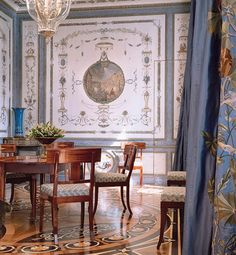 Paris dining room decorated by Juan Pablo Molyneux | Architectural Digest       ᘡղbᘠ