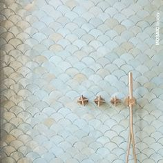 Fish Bathroom, Mermaid Bathroom, Boho Bathroom, Bathroom Styling, Bathroom Interior Design, Small Bathroom, Bathroom Kids, Scallop Tiles, Mermaid Tile