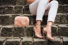 More on WWW.INNERCLASSY.DE rose, nude, white, rose gold, high heels, missguided, jeans, stradivarius, bag, new look, body, bershka, watch, michael kors, streetstyle, fashion