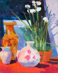 "Elizabeth Regan ""Paper Whites"" 16x20 Oil on Panel"