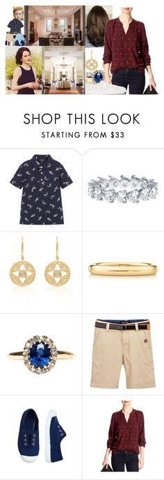 """Saying goodbye to William as Caroline picks him up for his sleepover with Oliver"" by lady-maud ❤ liked on Polyvore featuring Elsa Peretti, Banana Republic and Simone Rocha"