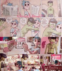 Gorillaz Art Style, Jamie Hewlett Art, Fandoms, Movie Posters, Anime, Film Poster, Cartoon Movies, Anime Music, Animation