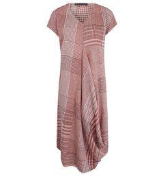 927ae5384e Liberty London. Women Wear. OSKA Pink Checked Linen Drape Jodi Dress