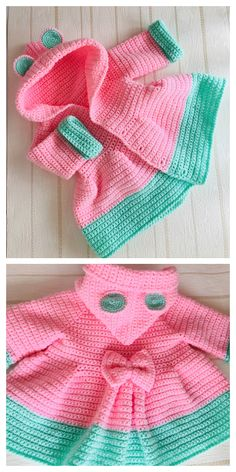 Crochet Baby Cardigan Free Pattern, Crochet Baby Sweaters, Newborn Crochet Patterns, Baby Sweater Patterns, Baby Clothes Patterns, Baby Girl Crochet, Crochet Baby Clothes, Free Crochet, Crochet Baby Dresses