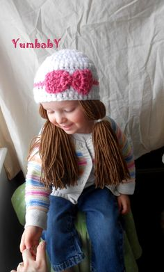 White+and+Pink+Doll+Pigtail+Wig+Cabbage+Patch+Hat+by+YumbabY,+$21.95