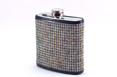 Vintage Men's tweed suit redone into this great flask by Keelan Rogue.  Made in Chicago from start to finish.