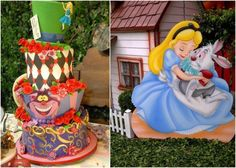 Alice in Wonderland party  cake