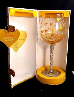Lolita What Is your Moment? Superbling Heart of Gold Extra Large Wine Glass 22oz #Lolita