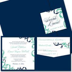 Josie+Square+Pocket+-+Unique+Wedding+Invitation+by+The+Green+Kangaroo