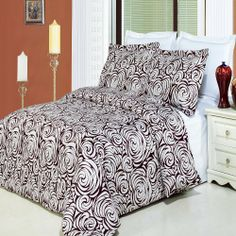 """8pcs Queen size Bed in a bag Printed duvet set Including Egyptian Cotton Tustin 3pcs Duvet cover set+ 4pcs Queen sheet set+ 1pc Full/Queen Down Alternative comforter by sheetsnthings. $164.99. 1pc Queen Fitted Sheet 60x80"""" ( deep pocket up to 18"""")+ 1pc Queen flat sheet 92x102"""", 300 Thread count, 100% Egyptian cotton. 2pc Standard Matching Pillow Shams 20x26"""" each, 300 Thread count, 100% Egyptian cotton. 1pc White Down Alternative Comforter 90x90"""", cover 300 Thread coun..."""