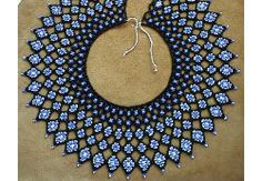 """Zowie, this is wow-ie! Saraguro """"Rombos"""" Collar by Chris Prussing Beading Projects, Beading Tutorials, Beaded Jewelry Patterns, Beading Patterns, Beaded Collar, Collar Pattern, Beads And Wire, Bead Weaving, Creations"""