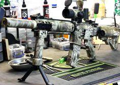 Kryptek Highlander custom paint job by Black Ops Airsoft
