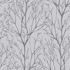 I Love Wallpaper™ Shimmer Tree Wallpaper Soft Grey / Silver - Wallpaper from I love wallpaper UK Waves Wallpaper, Wallpaper Uk, Feature Wallpaper, Wallpaper Samples, Peel And Stick Wallpaper, Designer Wallpaper, Wallpaper Designs, Bedroom Wallpaper, Trellis Wallpaper